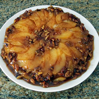 Cranberry Pear Upside-Down Cake.