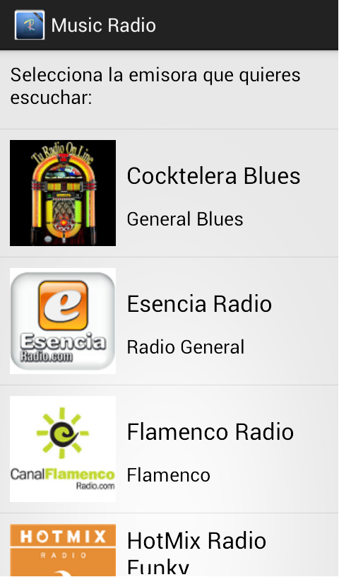 Music Radio - screenshot