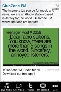 ClubZoneFM app- screenshot thumbnail