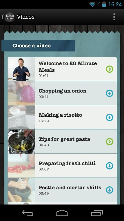Jamie's 20 Minute Meals - screenshot