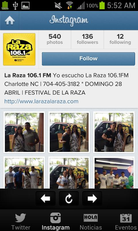 La Raza 106.1 FM- screenshot