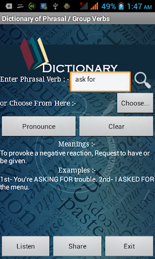 Phrasal Verb Dictionary
