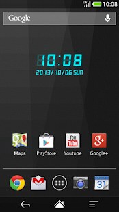 LED clock widget CT-Me Clock