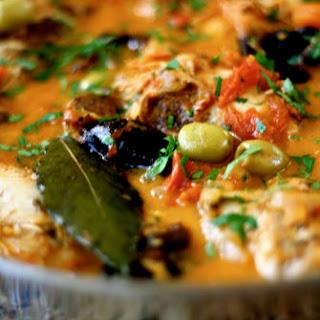 Braised Moroccan Style Chicken.