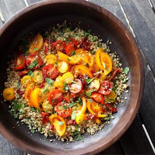 Tomato Salad with Sun-Dried Tomato Vinaigrette [Giveaway]