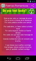 Screenshot of Poemas Romanticos