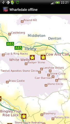 Wharfedale offline map