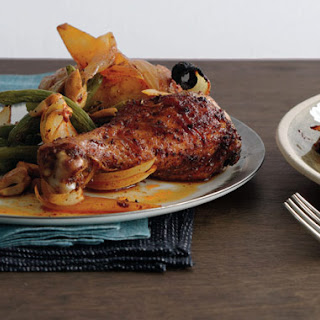 Paprika Roast Chicken with Sweet Onion.