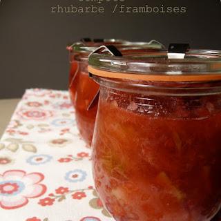Raspberry-Rhubarb Compote.