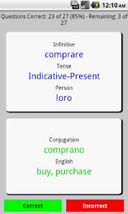 PenguinRoot Italian Verbs FREE - screenshot thumbnail