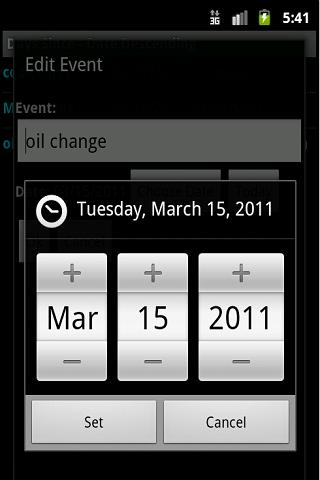Days Since- screenshot
