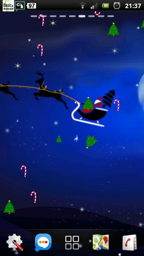 Santa Winter Christmas Eve LWP- screenshot