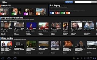 Screenshot of Rai TV