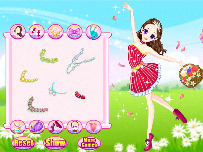 Dans meisie rok aan screenshot