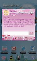 Screenshot of GO SMS Pro Bird Lover Theme