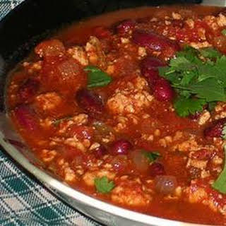 Sarah's Spicy Turkey Chili.