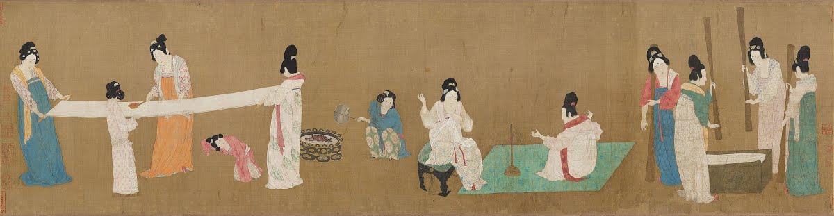 Court ladies preparing newly woven silk - Zhang Xuan — Google Arts ...