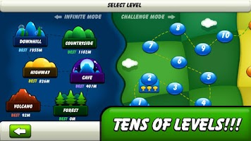 Screenshot of Monsters Climb Race: hill race