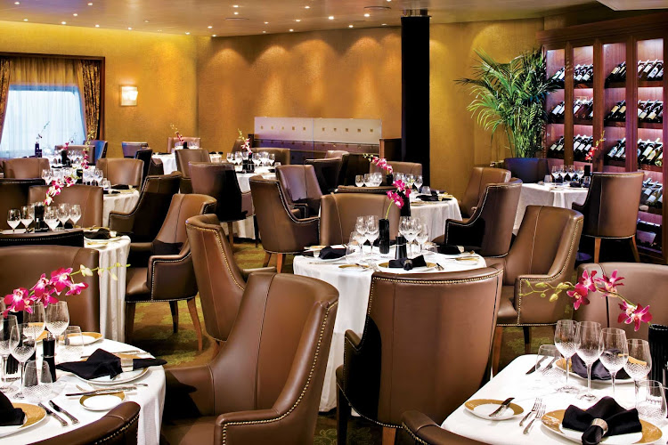 The classic, well-regarded Prime 7 Steakhouse on board Seven Seas Voyager.