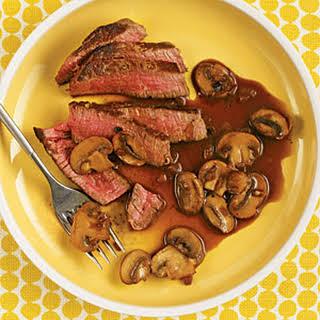 Beef Tenderloin with Mushroom-Red Wine Sauce.