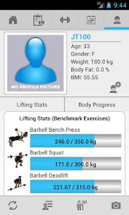 JEFIT Workout - Exercise Log - screenshot thumbnail