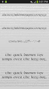 Gothic Fonts for FlipFont - screenshot thumbnail