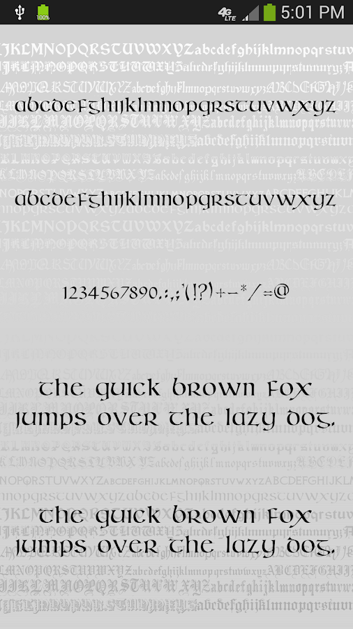 Gothic Fonts for FlipFont - screenshot