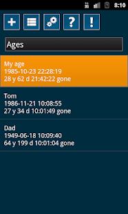 Time List - náhled