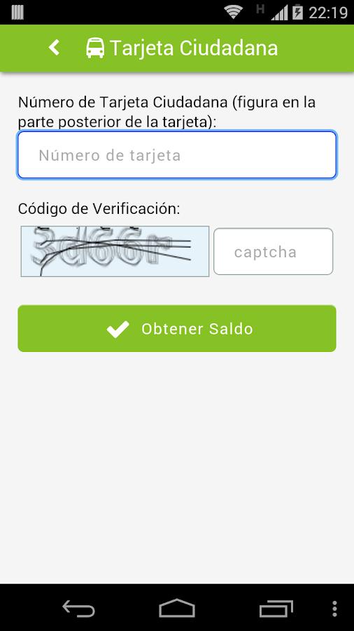 Tarjeta Ciudadana- screenshot