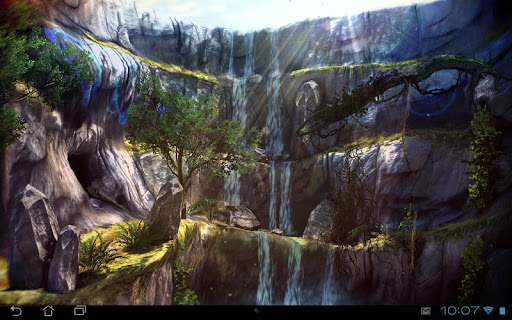 3D Waterfall Pro lwp app for Android screenshot