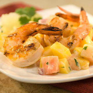 Tropical Grilled Shrimp Cocktail.