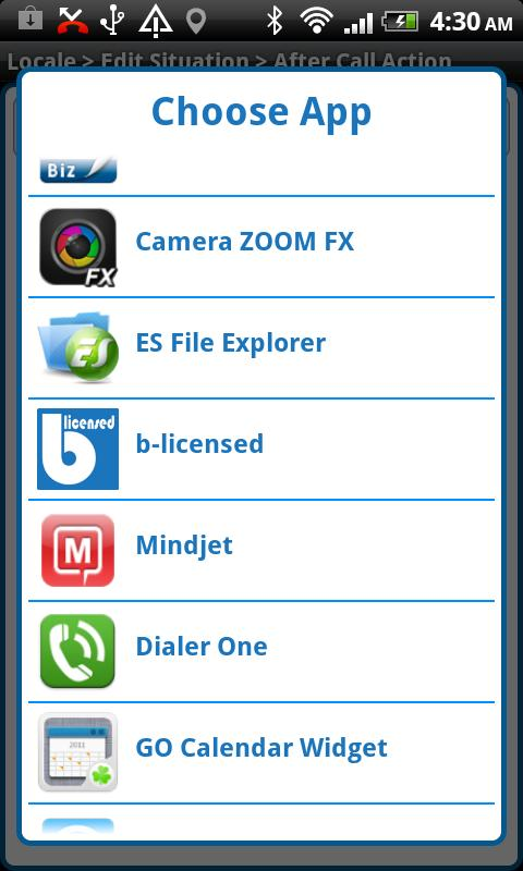 After Call Tasker Plug-in- screenshot