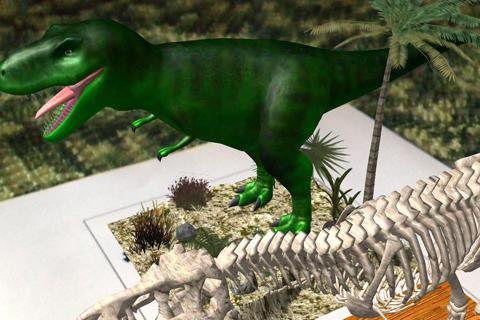 Logie T.Rex Augmented Reality - screenshot