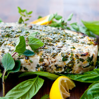 Grilled Fish with Citrus Herb Crust.