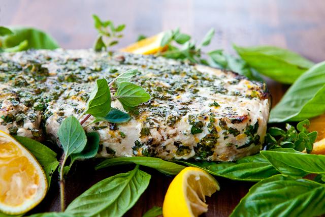 Grilled Fish with Citrus Herb Crust Recipe