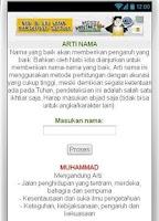 Screenshot of PRIMBON - ARTI NAMA
