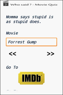 Cool Quotes - Movie Quiz - screenshot thumbnail