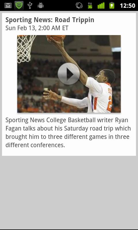 Sporting News NCAA Basketball - screenshot