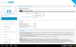 Screenshot of Fiscaal Memo