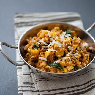 Farro Risotto with Acorn Squash and Kale Recipe