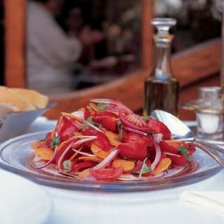 """Red Salad"" of Tomatoes, Carrots and Red Onions (Insalata Rossa)"