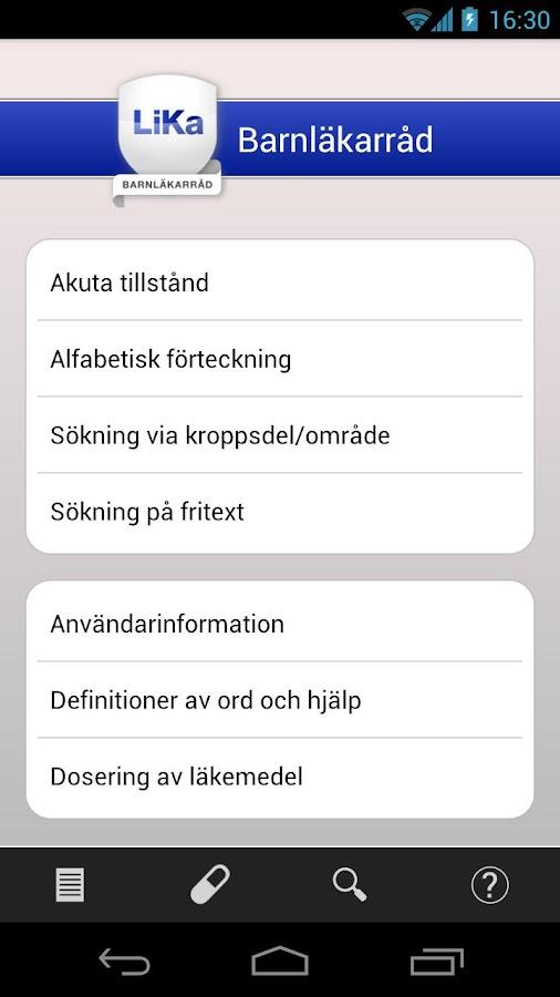 Barnläkarråd- screenshot