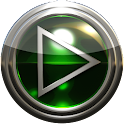 glass poweramp skin green icon