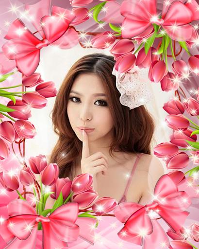 กรอบรูป แต่งรูป กรอบรูปดอกไม้