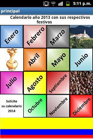 Calendario 1 Festivos Colombia