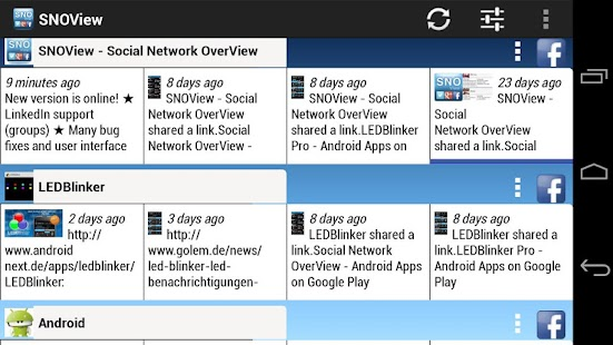 Social Network OverView - screenshot thumbnail