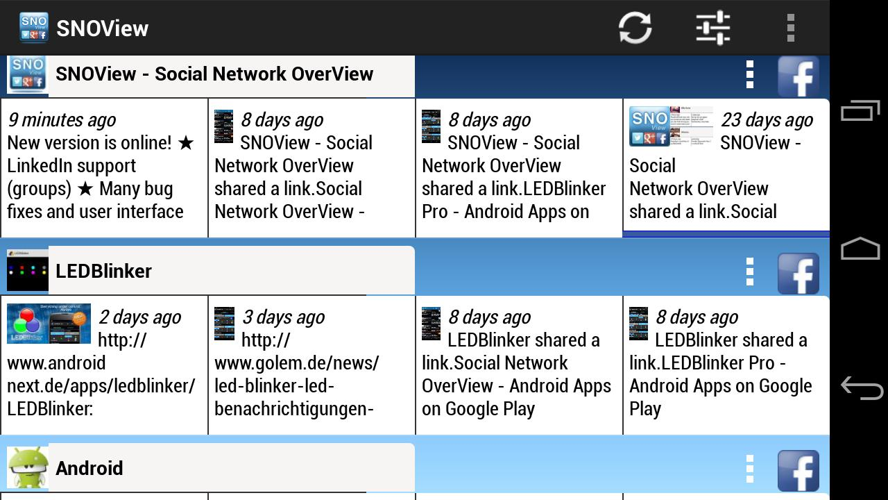 Social Network OverView - screenshot