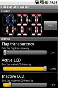 Flag LCD Clock Widget USA screenshot 0