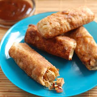Char Siu Tofu Spring Rolls.