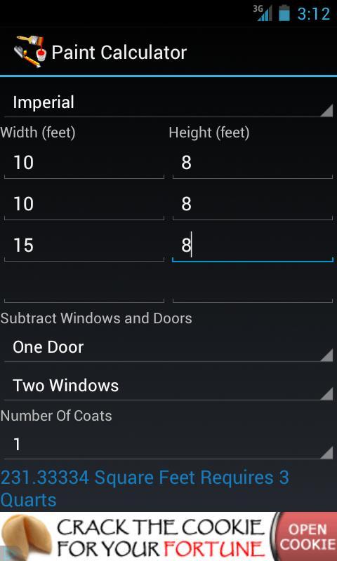 Paint Calculator - στιγμιότυπο οθόνης